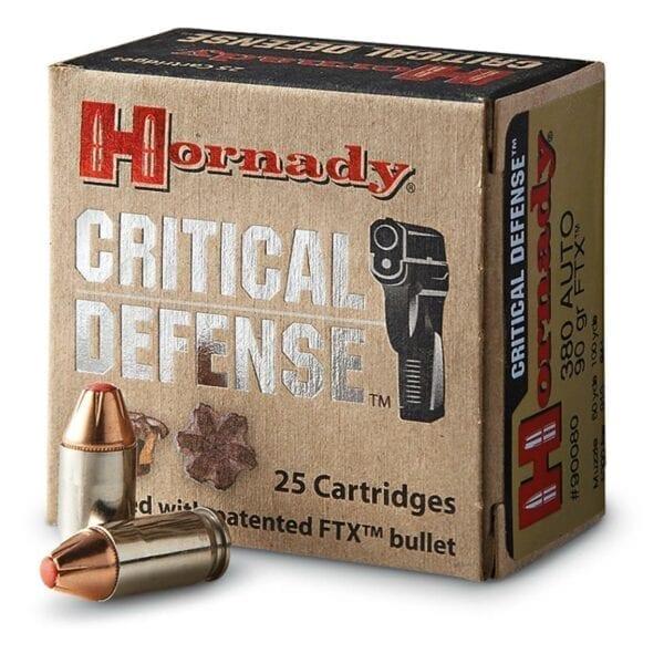 9mm Luger   Hornady Critical Defense - FTX - 115 Grains - 25 Rounds